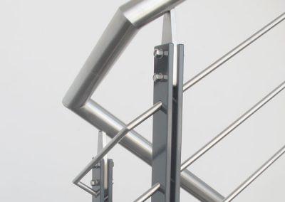 10 Treppengeländer Stahl