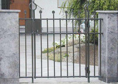 Eingangstor aus Stahl